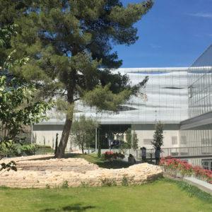 vue du jardin archéologique - Musée de la Romanité - Nîmes