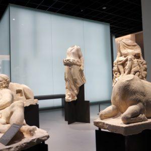 statues de la collection permanente du musée de la romanité