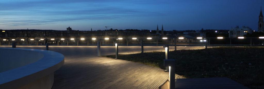 vue du rooftop de nuit