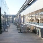 terrasse du restaurant la Table du 2 - Rooftop - Musée de la Romanité - Nîmes