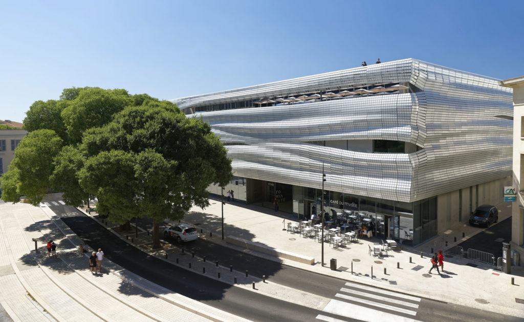 vue de la façade du musée depuis la rue