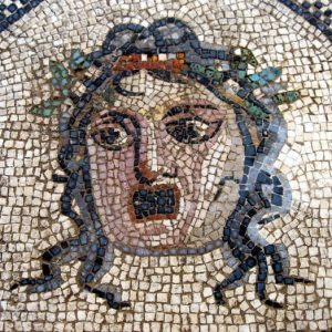 détail d'une mosaïque - Penthée - Musée de la Romanité