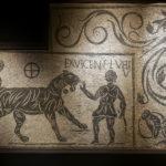mosaïque de l'exposition sur les gladiateurs