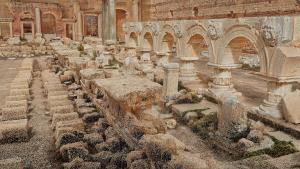 Modèle 3D du forum de Leptis Magna (Libye) © Fonds Iconem - DOA - MAFL