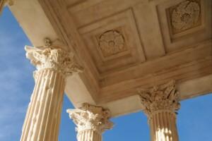 Détail Maison carrée Nîmes