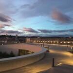 Rooftope face aux arènes au Musée de la Romanité