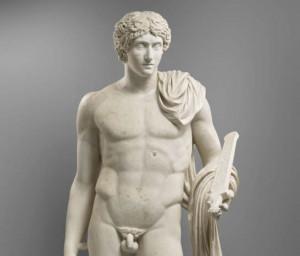 Statue de jeune homme - Romain - Exposition temporaire - Musée de
