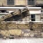 Fronton du Musée de la Romanité à Nîmes - avant restauration