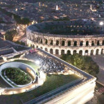 Nîmes vue du ciel